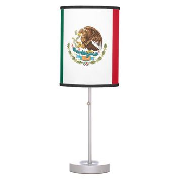 Patriotic table lamp with Flag of Mexico