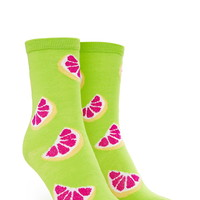 Citrus-Patterned Crew Socks | Forever 21 - 2000076619