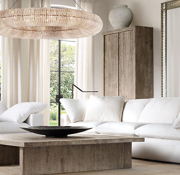 Crystal Halo Chandelier 59 Quot From Restoration Hardware