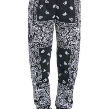 Svarta Paisley Sweatpants - Gangsta Bitch | Mad Lady