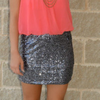 Mirror Mirror Sequin Dress · Haute Pink