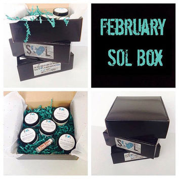 Beauty Box, February Fest Sol Box, Beauty Box, Valentines Day Bath Bombs and Anti-Valentine Add Ons