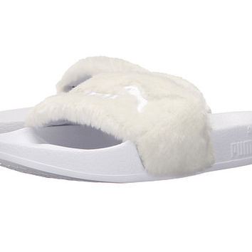 PUMA The Fur Slide Black/Puma Silver - Zappos.com Free Shipping BOTH Ways