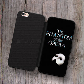 Phantom Opera Broadway Musical Wallet Leather Case for iPhone 4s 5s 5C SE 6S Plus Case, Samsung S3 S4 S5 S6 S7 Edge Note 3 4 5 Cases