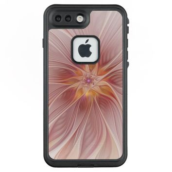Soft Pink Floral Dream Abstract Modern Flower LifeProof® FRĒ® iPhone 7 Plus Case