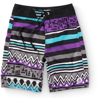 "Volcom Boys Zig Stripe 18"" Board Shorts"