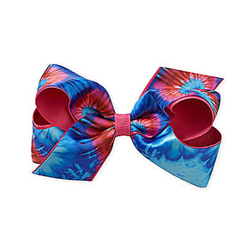 Copper Key Revolution Grosgrain Overlay Bow - Shocking Pink