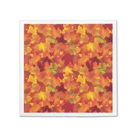 Autumn Leaves Pattern Standard Cocktail Napkin
