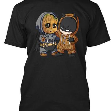 Cute Groot Bat Man T Shirt