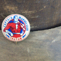 Original Captain Marvel Club Shazam pin 1941 excellent condition Free Shipping to USA must see comic book