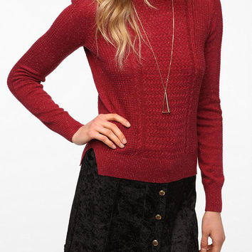 Pins and Needles Mixed Stitch Long-Sleeved Sweater