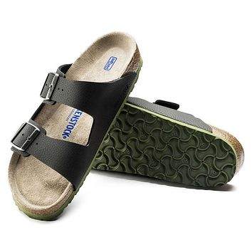 Best Online Sale Birkenstock Arizona Soft Footbed Birko Flor Embossed Desert Soil Blac