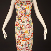 CAROLINA HERRERA-Cotton Print Shift Dress, Size-8