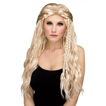 Lagertha Costume Wig Adult Viking Shield Maiden Halloween Fancy Dress