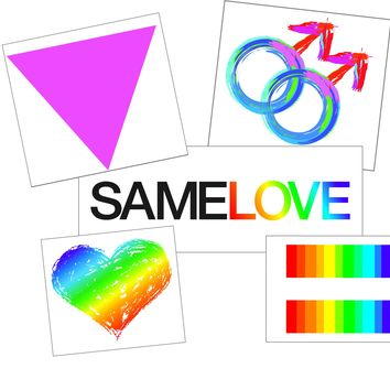Men's Gay Pride Temporary Tattoo Set