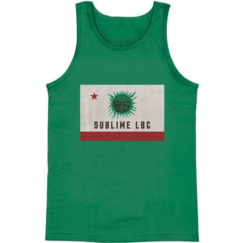 Sublime Men's  LBC Green Sun Mens Tank Green