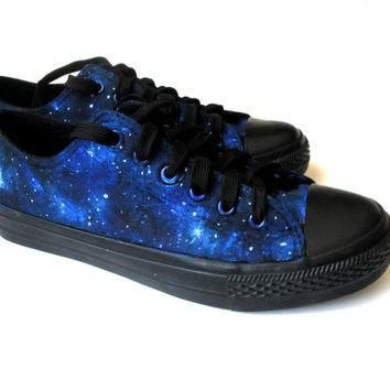 Custom handpainted galaxy sneakers,personalized shoes, galaxy converse, galaxy vans, l