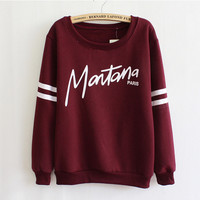 Women Fleece Hoodies Crewneck Sports Loose Casual Tops Sweatershirts