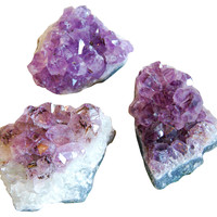 One Kings Lane - The Perfect Setting - Amethyst Purple Crystal Specimens, S/3