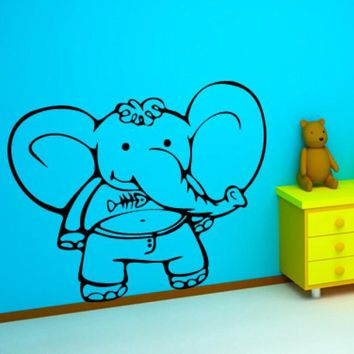 Wall Vinyl Decal Sticker Bedroom Decal Nursery Kids Baby Elephant  z647