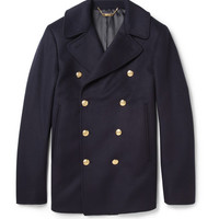 PRODUCT - Alexander McQueen - Wool and Cashmere-Blend Peacoat - 360155 | MR PORTER