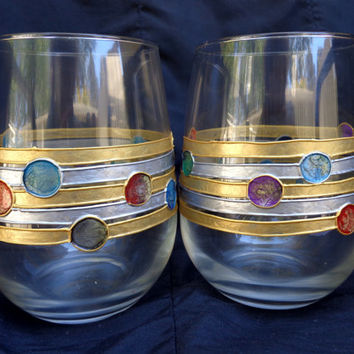 Wine/ water glasses. Set of 2.