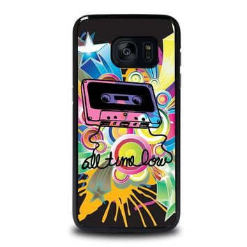 all time low retro cassete samsung galaxy s7 edge case cover  number 1
