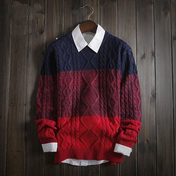 Casual Men's Vintage Comfortable Classic Cable Knit Sweater