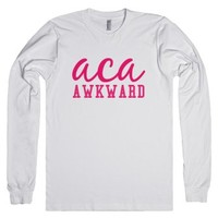 aca awkward pitch perfect long sleeve tee-Unisex White T-Shirt