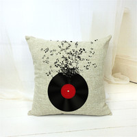 MYJ 1PCS/Lot music Printed Linen Cushion Throw Pillow Chair Car Seat Pillow print your name