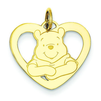 Gold-plated SS Disney Winnie the Pooh Heart Charm WD173GP