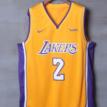 Los Angeles Lakers #2 Lonzo Ball Nike Icon Edition NBA Jerseys - Best Deal Online
