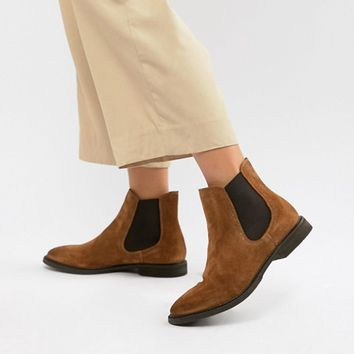 Selected Leather Chelsea Boots at asos.com