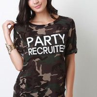 Party Recruiter Camouflage Top