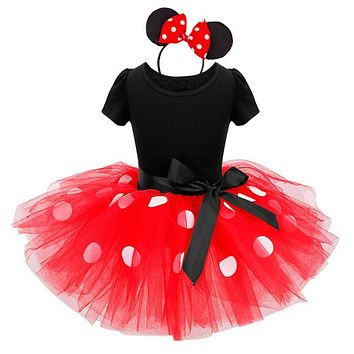 Beautiful Clothes For Kids Baby Girls Dress Ear Headband Carnival Party Fancy Costume Ballet Stage Performance Dresses Christmas