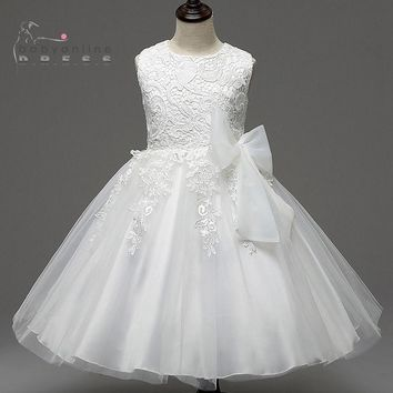 Princess Summer Flower Girl Dresses 2017 Tutu Wedding Birthday Party Dresses For Girls Children's Costume Prom Designs