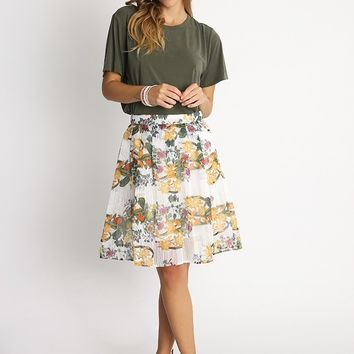 Sweet Destiny Floral Print Skirt