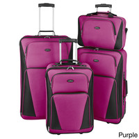 U.S. Traveler by Traveler's Choice Tipton 4-piece Lightweight Rolling Luggage Set | Overstock.com Shopping - The Best Deals on Four-piece Sets
