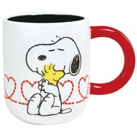 Peanuts Snoopy Hugging Woodstock Coffee Mug, Ceramic Mug, Coffee Mug, Cute Mug