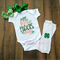 my first st paddys day outfit, first st pattys day baby, st patricks day toddler shirts, st patricks day outfit, newborn coming home outfit