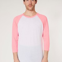 bb453n - Neon Poly-Cotton 3/4 Sleeve Raglan Shirt