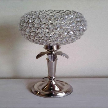 Vintage Aluminium  Metal Crystal Candle Table Lamp,Party Decoration,Garden party Decoration