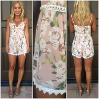 Secret Crush Floral Romper