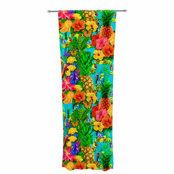"Shirlei Patricia Muniz ""Tropical Style"" Yellow Nature Decorative Sheer Curtain"