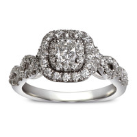 Cushion Halo Twist Ready for Love Diamond Engagement Ring Steven Singer Jewelers