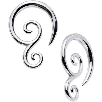 10 Gauge Stainless Steel Double Swirl Spiral Taper Set