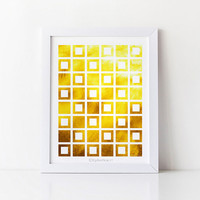 Digital art print Yellow decor, Home decor wall art print, Yellow wall decor Bedroom decor, 8x10 Printable art Geometric print, Bathroom art