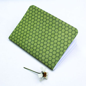 Spring Green Polka Dot Traveler's Notebook Journal Stationary Planner Insert Blank Pages Sketchbook