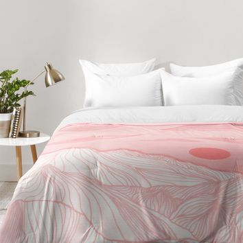 Viviana Gonzalez Lines in the mountains Comforter | Deny Designs Home Accessories