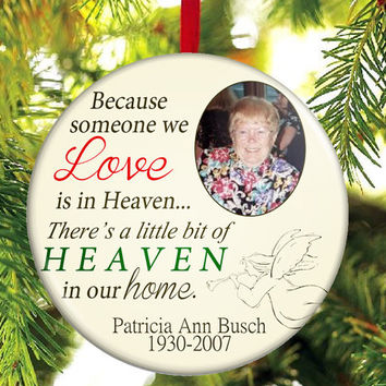 memorial christmas ornament someone we love is in heaven
